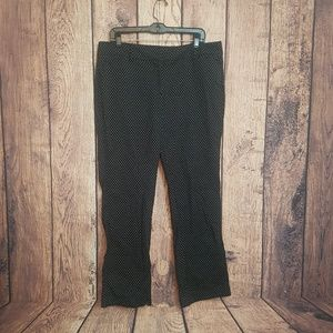 New York and Co blue polka dot pants size 14